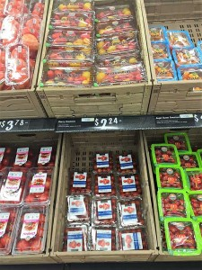 Lineal de un supermercado en Florida.