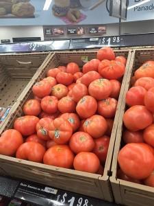 Tomates en supermercados de Florida, EEUU.