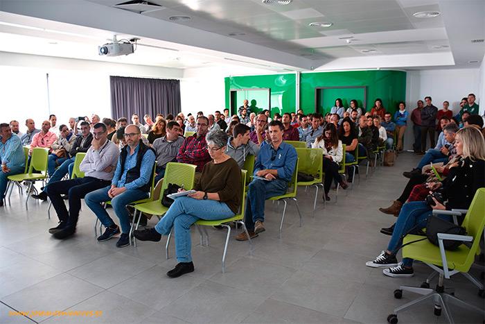 David del Pino durante su charla en la House Fair Spain 2016. Enza Zaden en El Ejido, Almería, España.