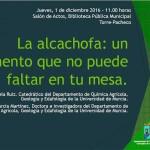 Día 1 de diciembre. Jornada 'La alcachofa: un alimento que no puede faltar en tu mesa'. Murcia