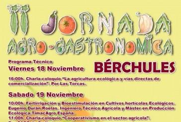 Días 18,19 y 20 de noviembre. II Jornada Agro-Gastronómica. Bérchules