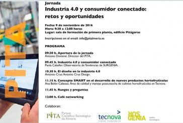 Día 9 de noviembre.  Industria 4.0 y consumidor conectado: retos y oportunidades. PITA