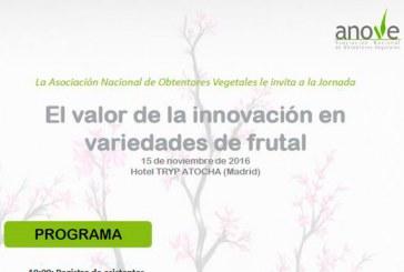 Día 15 de noviembre. Jornada 'El valor de la innovación en variedades de frutal'. Anove