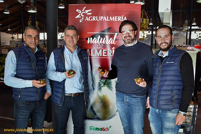 Izq-dcha. Manuel Ferrer (Clause), Juan Antonio Plaza (Clause), David Baños (Agrupalmería) y Manuel Ruiz Ayala (Clause).