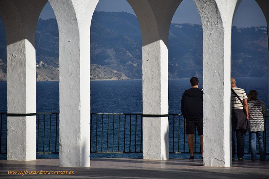 Nerja, Axarquía de Málaga, el Balcón de Europa.
