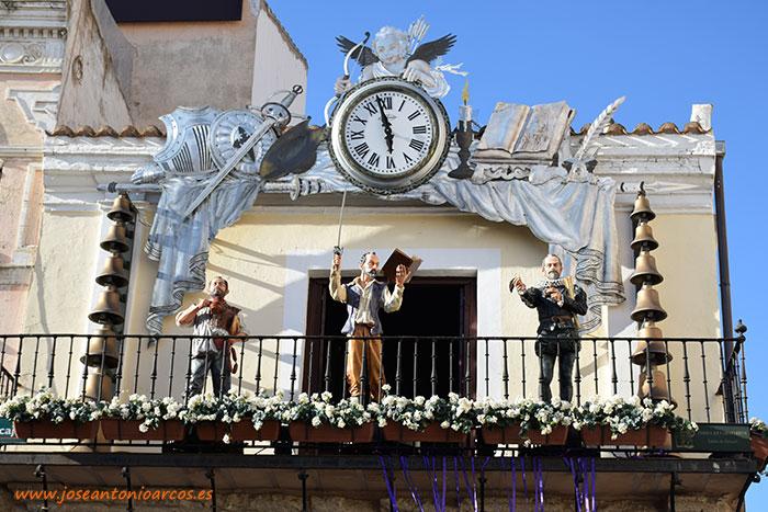 El Reloj Carrillón en la Plaza Mayor de Ciudad Real.