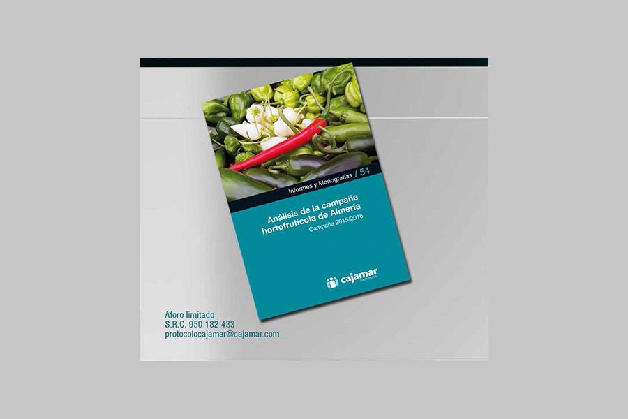 Día 13 de diciembre. Cajamar presenta el 'Informe de la campaña hortofrutícola de Almería 2015/2016'