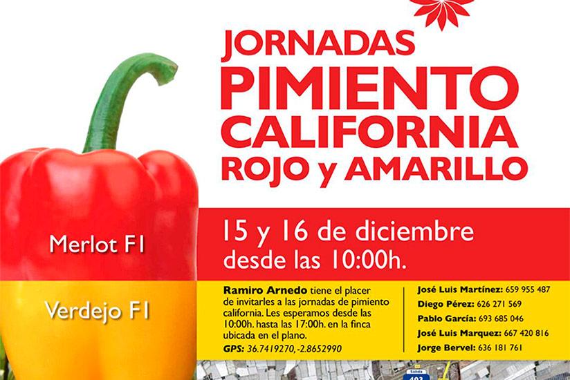 Días 15 y 16 de diciembre. Jornadas de pimiento california de Ramiro Arnedo