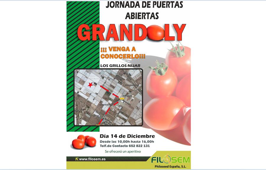 Día 14 de diciembre. Jornada de puertas abiertas de tomate de Filosem