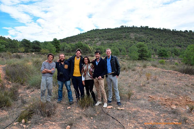 José Antonio Arcos con agricultores ecológicos de Murcia, en Sierra Espuña.