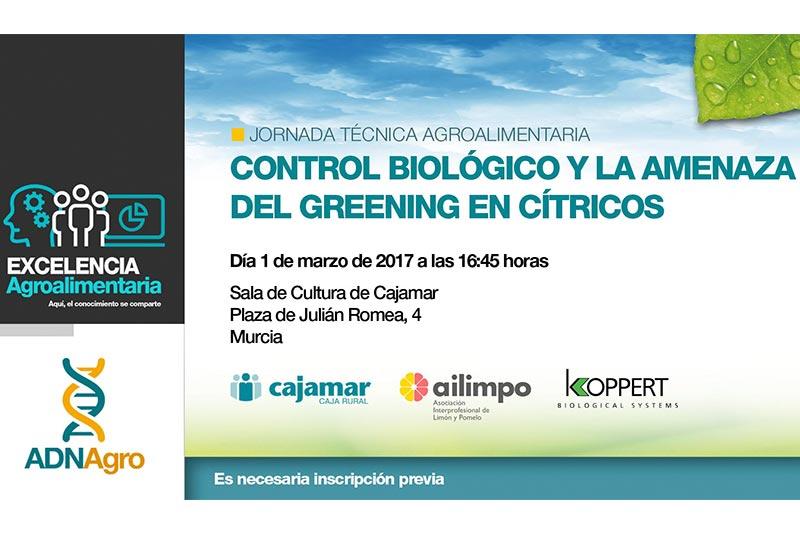 Día 1 de marzo. Control biológico y la amenaza del Greening en cítricos. Murcia