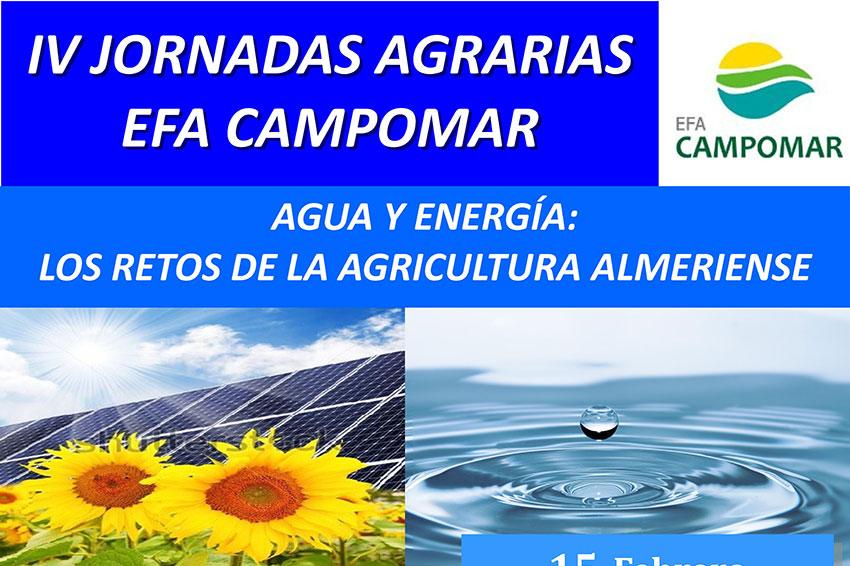 Día 15 de febrero. IV  Jornadas Agrarias EFA Camponar. Agua y energía