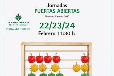 Días 22, 23 y 24 de febrero. Jornadas puertas abiertas de pimiento california de Zeraim
