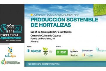 Día 21 de febrero. Jornada técnica 'Producción sostenible de hortalizas'. Almería