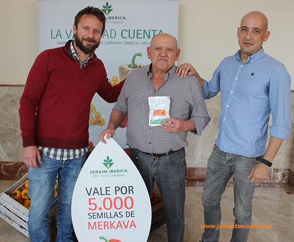 Antonio González con Ramón Egea y Luis Martínez (Zeraim).