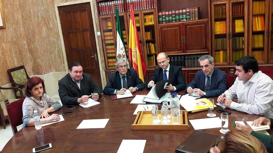 Reunión celebrada esta mañana en Almería.