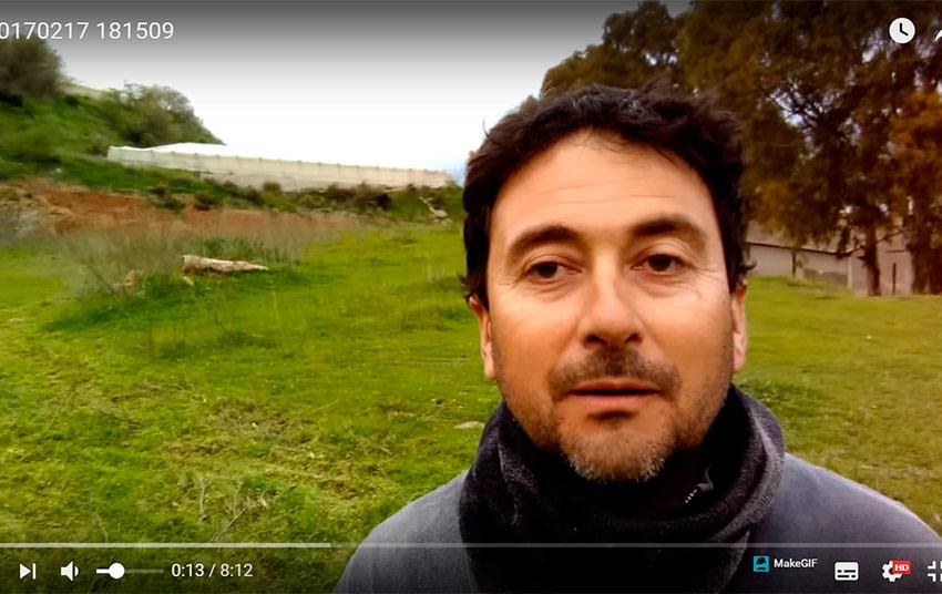(vídeo) Un agricultor de Carchuna contra los bajos precios del calabacín