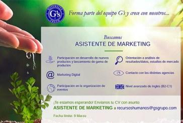 Grupo G´S precisa de Asistente de Marketing
