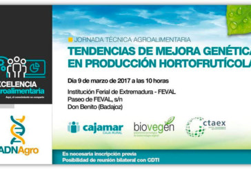 Día 9 de marzo. 'Tendencias de mejora genética en producción hortofrutícola'. Badajoz