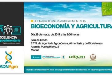 Día 29 de marzo. Jornada 'Bioeconomía y agricultura'. Madrid
