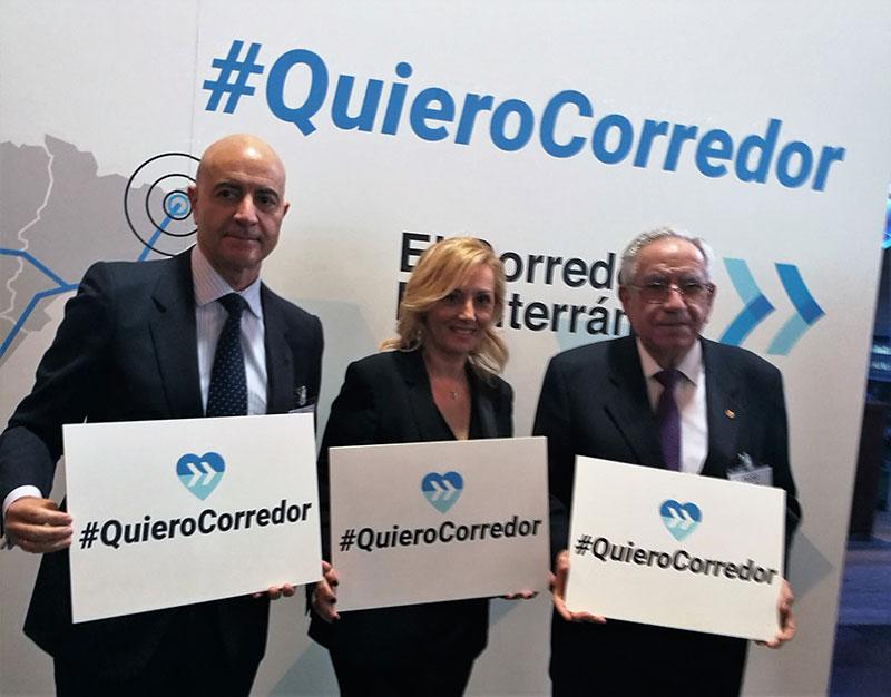 Los empresarios almerienses se vuelcan en la campaña #QuieroCorredor Mediterráneo