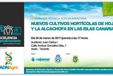 Día 30 de marzo. 'Nuevos cultivos hortícolas de hoja y la alcachofa en las Islas Canarias'