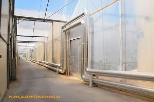 Sistemas de tuberías de agua caliente de SDC, en un invernadero de Níjar. Sistemas de Calor 'proyecto llave en mano'