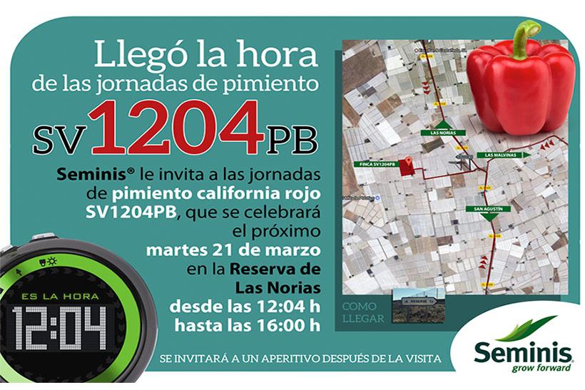 Día 21 de marzo. Jornada de puertas abiertas de pimiento california rojo de Seminis