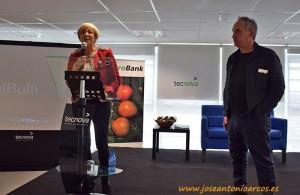 Mari Carmen Galera, gerente de Tecnova, durante la charla del cocinero Ferran Adriá en la sede de Tecnova en el PITA.