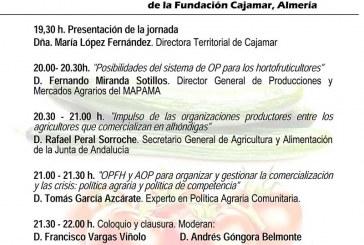 Día 22 de marzo. Jornada 'Retos de la OPFH y las AOP en Andalucía'. Almería