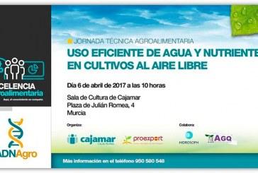 Día 6 de abril. Jornada 'Uso eficiente de agua y nutrientes en cultivos al aire libre'