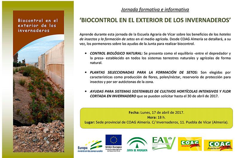 Día 17 de abril. Jornada 'Biocontrol en el exterior de los invernaderos'. Almería