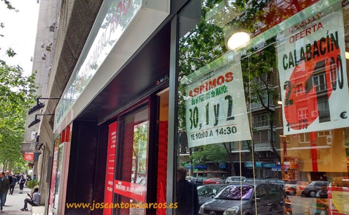 El 2×1 en calabacín en fruterías de Madrid