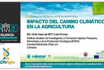 Día 19 de mayo. Impacto del cambio climático en la agricultura. Córdoba