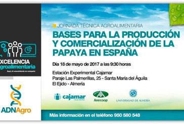 Día 18 de mayo. Bases para la producción y comercialización de la papaya en España