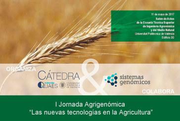 Día 11 de mayo. El futuro de la agricultura, I Jornada Agrigenómica. Valencia