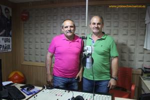 Juan Antonio Vidaña y Antonio Gómez en BRISA RADIO.