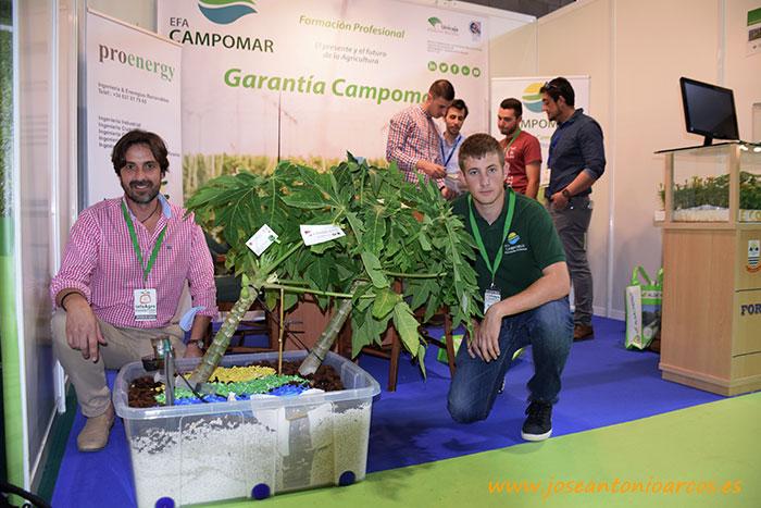 Papaya en el expositor de Campomar en la feria InfoAgro Exhibition 2017.