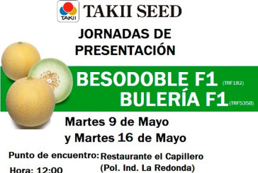 Días 9 y 16 de mayo. Jornadas de presentación de melón galia de Takii Seed