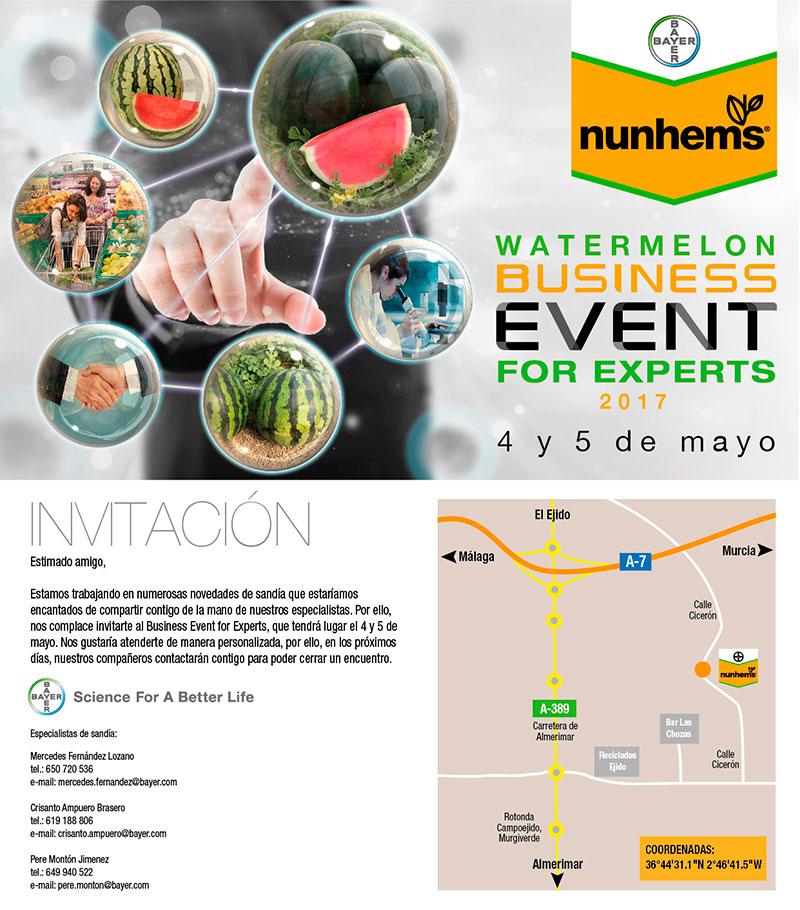 Días 4 y 5 de mayo. Jornadas de sandía de Nunhems en el Poniente almeriense.