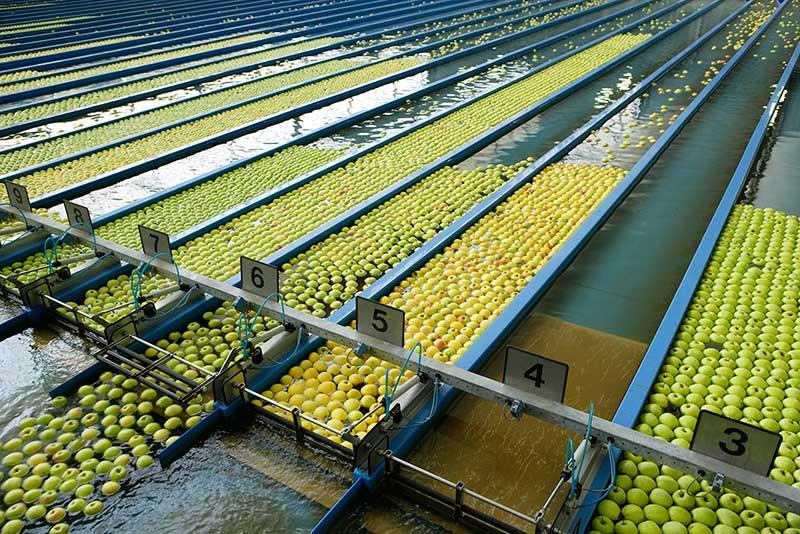 Almacenes de manzanas de Val Venosta.