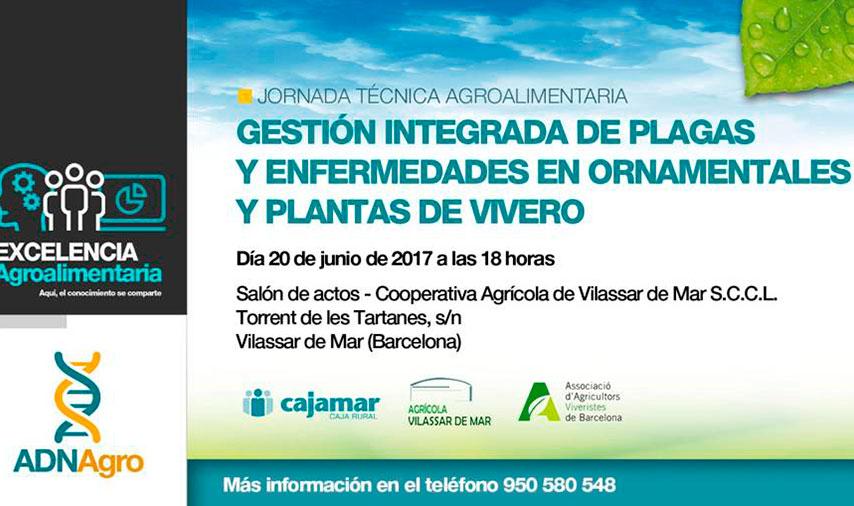 Día 20 de junio. Gestión integrada de plagas y enfermedades en ornamentales y plantas de vivero