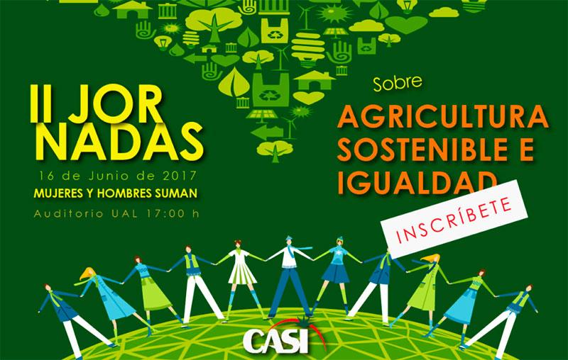 Día 16 de junio. II Jornadas sobre sostenibilidad e Igualdad de CASI