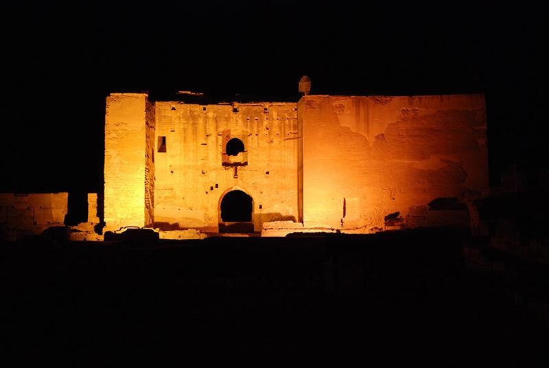 La Alcazaba de Almería de noche