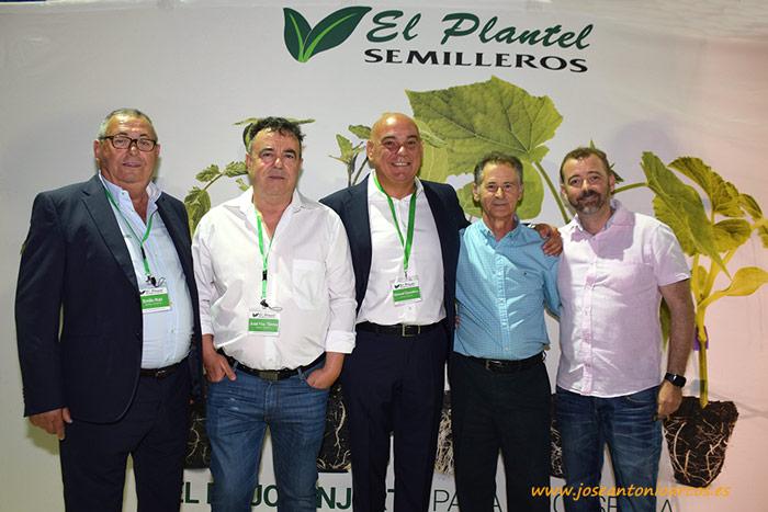 Emilio Ruiz, José Francisco Torres, Manuel Escudero y Manuel Céspedes, padre e hijo. Jornada de Semilleros El Plantel.