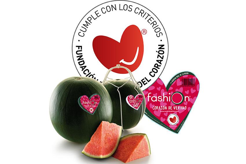 La Fundación Española del Corazón acredita los beneficios saludables de Sandía Fashion