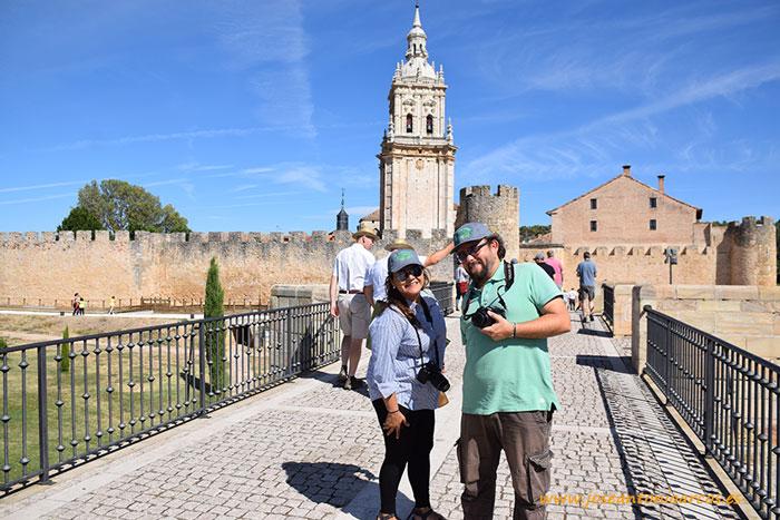 Con la directora de eComercioAgrario en la parada de El Burgo de Osma.