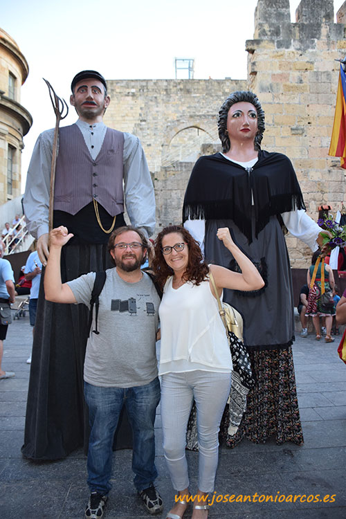 Cabezudos pagesos. Tarragona. Catalunya.