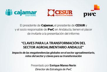 Día 6 de octubre. Informe 'Claves para la transformación del sector agroalimentario andaluz'. Almería