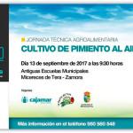 Día 13 de septiembre. Jornada 'Cultivo de pimiento al aire libre'. Zamora